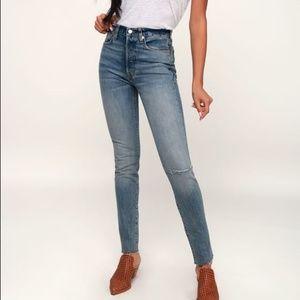 NWT Free People High Waist Skinny Jeans Size 28